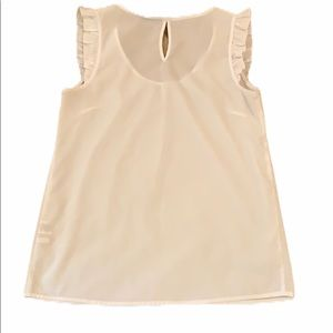 New York & Company sleeveless blouse white size S